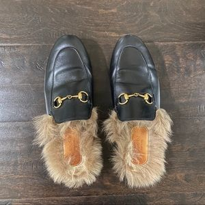 Gucci Princetown Fur Lined Mules
